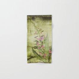 Decorative Green Floral Hand & Bath Towel