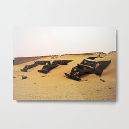 Desert Skeletons Metal Print