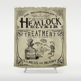 Dr. Schwindler's Original Hemlock Elixir Shower Curtain