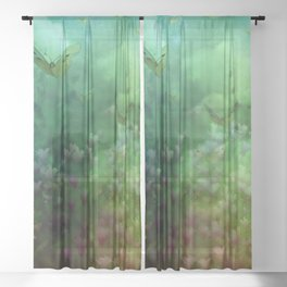 """The Enchanted Forest"" (Fairyland) Sheer Curtain"