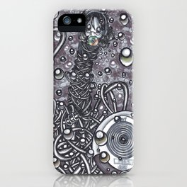 Drowning to the beat of a melody iPhone Case