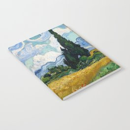 Wheat Field with Cypresses Notebook