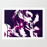 rock n roll Art Prints featuring Rock 'n' Roll Suicide by Jasz Schneider