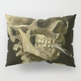 Skull of a Skeleton with Burning Cigarette by Vincent van Gogh Pillow Sham