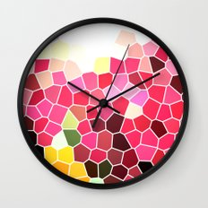 Pattern 5 - pink explosion Wall Clock