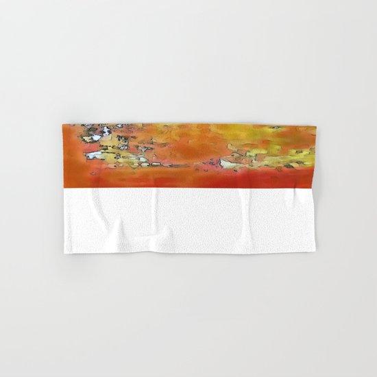 Orange Burst Hand & Bath Towel