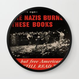Vintage poster - Burned Books Wall Clock