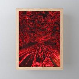 Volcanic eruption Framed Mini Art Print