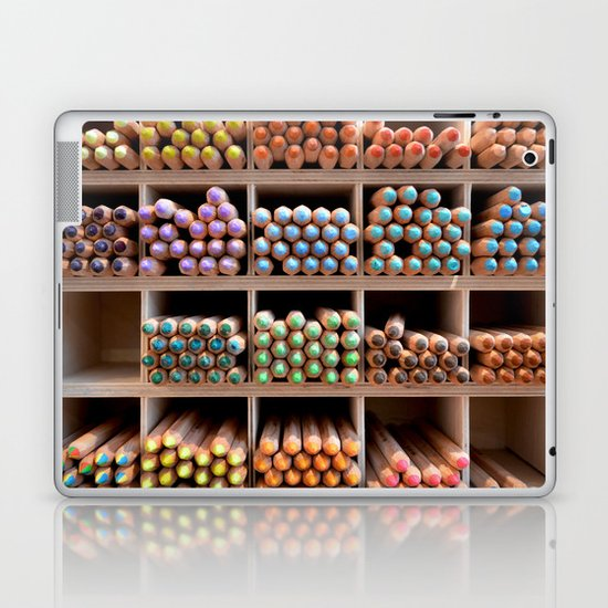 Coloured pencils Laptop & iPad Skin