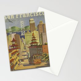 Vintage poster - San Francisco Stationery Cards