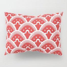 Fan Pattern Red 201 Pillow Sham