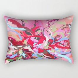 Red Arrangement Rectangular Pillow