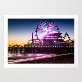 Santa Monica evenings Art Print