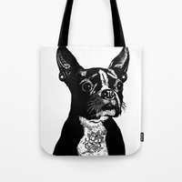 mother Tote Bags featuring Mother by John C Thurbin