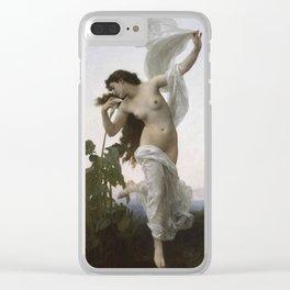 William-Adolphe Bouguereau - Dawn Clear iPhone Case