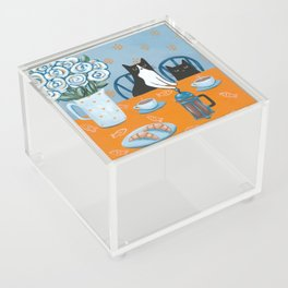 Cats and a French Press Acrylic Box