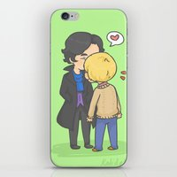 johnlock iPhone & iPod Skins featuring Johnlock Kisses by KalesButt