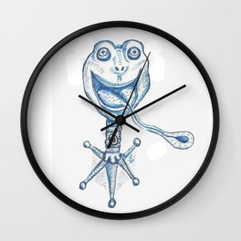 Frog Stand Wall Clock