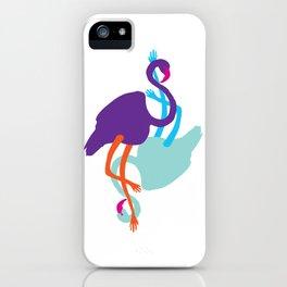 Animal Mardi Gras (Flamingo Mauve Turquoise) iPhone Case
