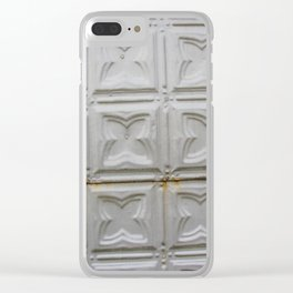 Pressed Tin 1 Clear iPhone Case