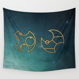 Doctor Who in Circular Gallifreyan Wall Tapestry