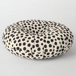 Irregular Small Polka Dots black Floor Pillow