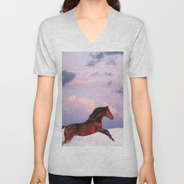 horse collection. winter Unisex V-Neck