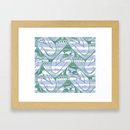 "Koloman (Kolo) Moser ""Textile pattern (Waves)"" (2) Framed Art Print"