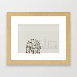 Lodge series - Bear Framed Art Print