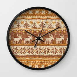 Ugly Christmas Sweater Digital Knit Pattern 3 Wall Clock