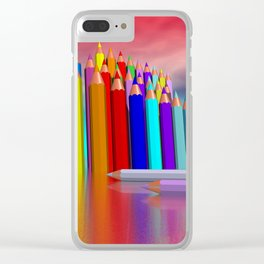 time to draw a picture -1- Clear iPhone Case