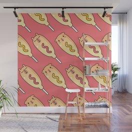 Bubu and Moonch, Corn Dog Pattern Wall Mural