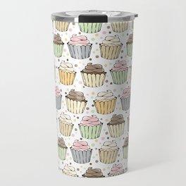 Cupcake Love Pattern -Food Pattern Travel Mug