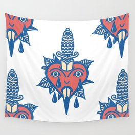 Sentimental Hearts II Wall Tapestry