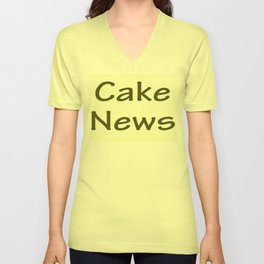 Cake News - Allusion to May in Salzburg Unisex V-Neck