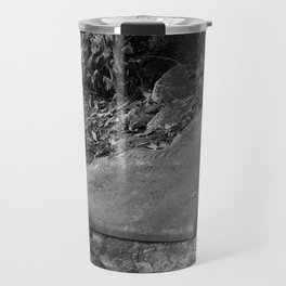 broken old grave on the green Travel Mug