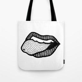 tongue's out Tote Bag