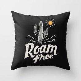 Roam Free Throw Pillow