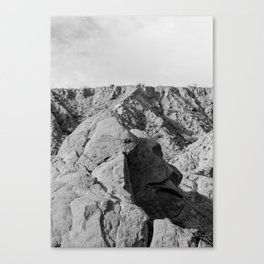 Face in the rocks Canvas Print