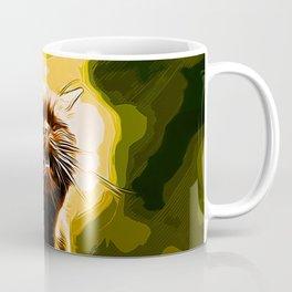 british shorthair cat ready to attack vector art Coffee Mug