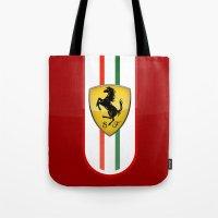 ferrari Tote Bags featuring FERRARI by Smart Friend