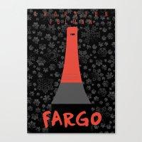 fargo Canvas Prints featuring Fargo by Lorcy