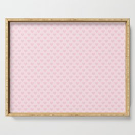 Large Light Soft Pastel Pink Love Hearts Serving Tray