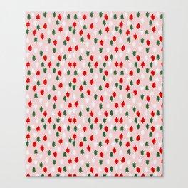 Xmas Pop Pattern Canvas Print