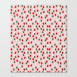 Xmas Pop Pattern Canvas Print