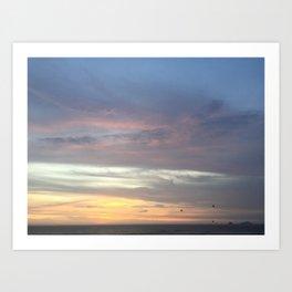 A sky of blue Art Print