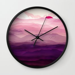 Ultra Violet Day Wall Clock