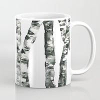birch Mugs featuring Birch    by kristinesarleyart
