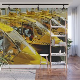 Yellow Taxi Boats Wall Mural