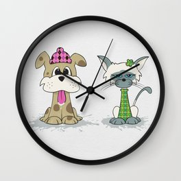Dylan Dog and Clarence Cat Wall Clock